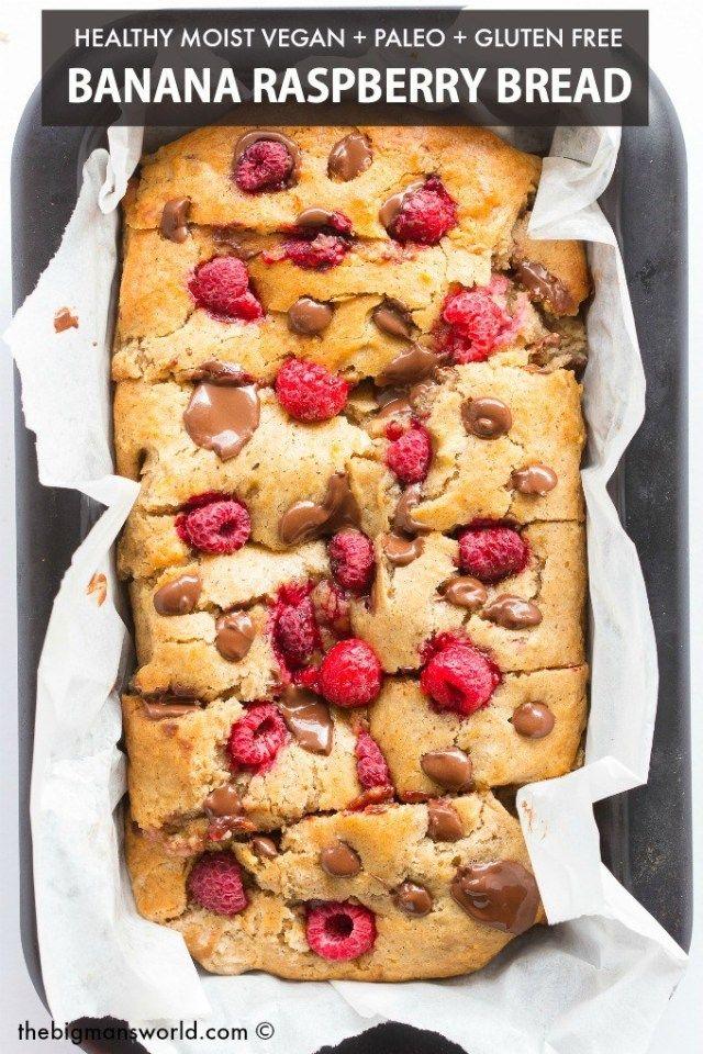 Healthy Banana Raspberry Bread Recipe Raspberry Bread Banana