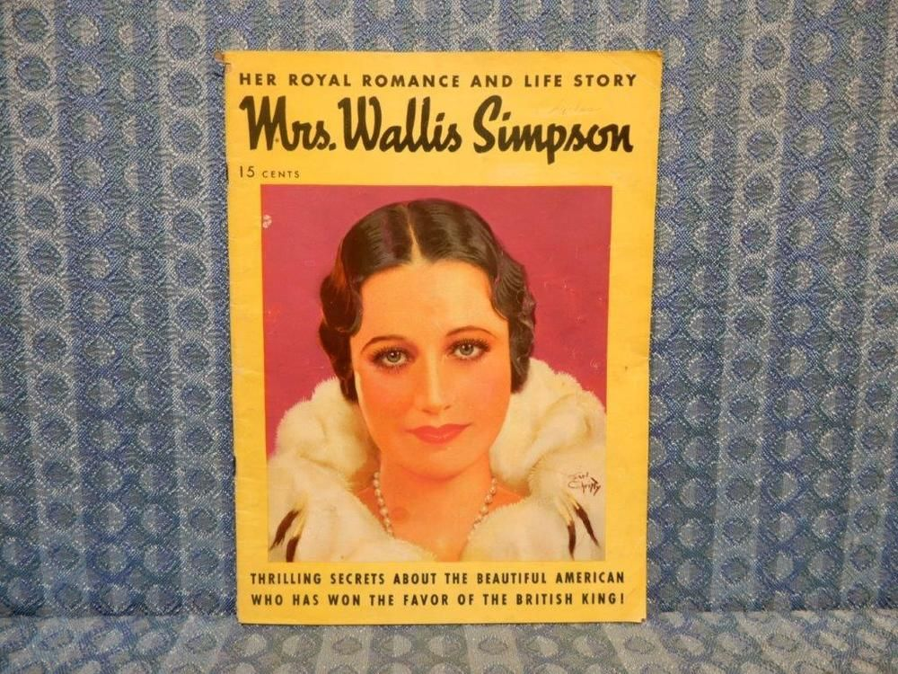 1939 Mrs Wallis Simpson Original Portfolio    Magazine