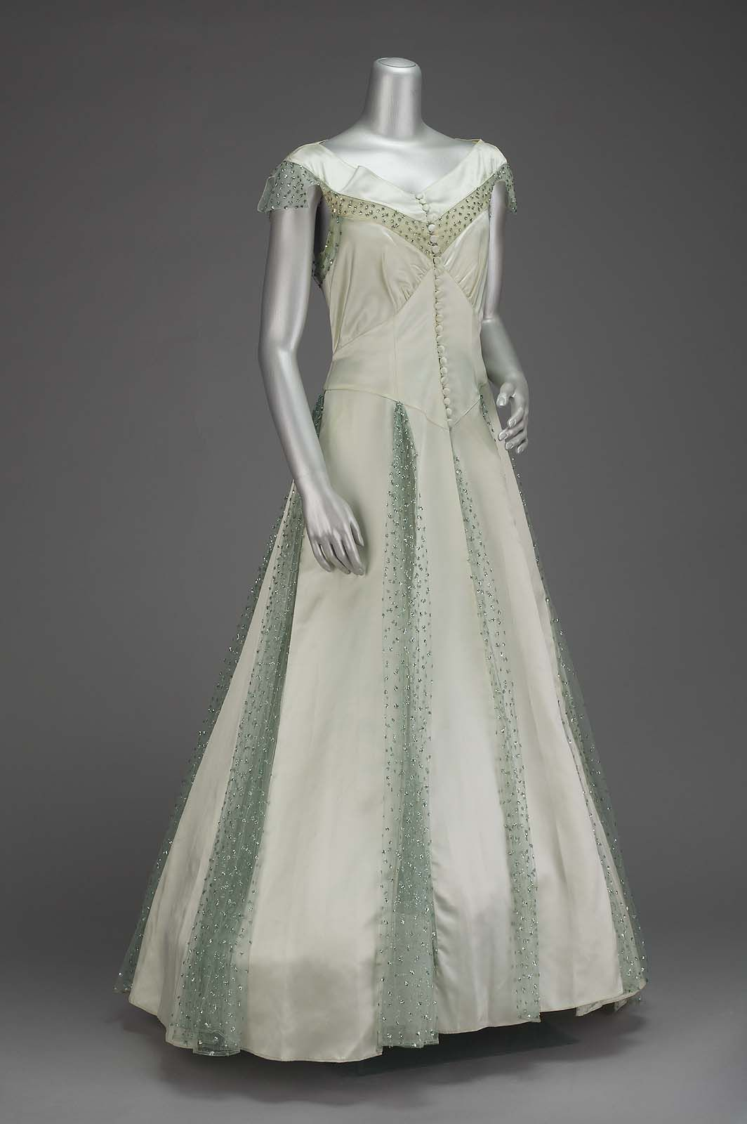 Evening dress ana de pombo for house of paquin c vintage