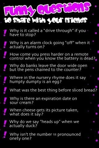 silly dating questions