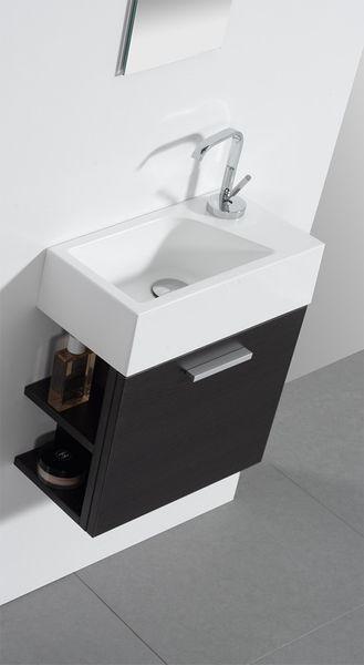 Photo of Gäste-WC Badmöbel Waschbecken mit Unterschrank und Ablagefächer