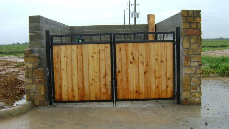 Cedar And Iron Dumpster Enclosure Wood Gate Porch Landscaping Building A Fence