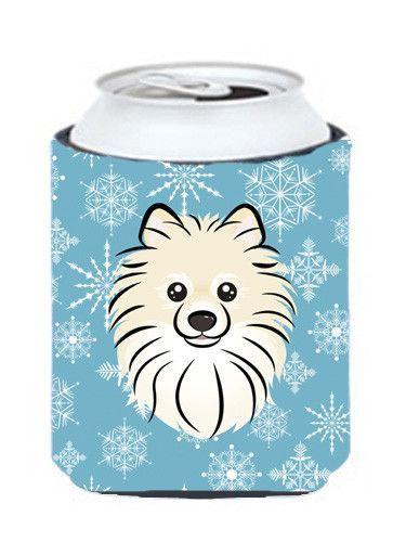 Snowflake Pomeranian Can or Bottle Hugger BB1641CC