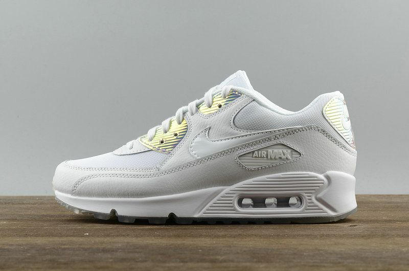 official photos 786d9 d4178 Youth Big Boys NIKE AIR MAX 90 Premium Casual Running Shoes Newest Mesh  Breathable 443817 104 White White Blue Tint
