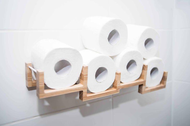 Toiletpapier Houder Muur Gemonteerde Houten Toiletpapier Plank Houder Voor Toiletpapier Rollen Bakstenen In 2020 Toiletpapierhouder Toiletpapier Opslag Toiletpapier