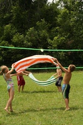 Water Balloon Volleyball Com Imagens Jogos Para Criancas Ao