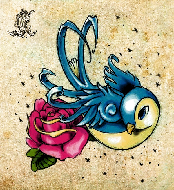 Tattoo sketch, bird