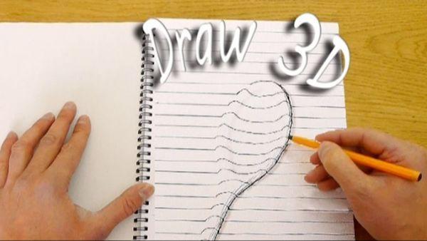 Video 3d Buchstaben Zeichnen So Geht S