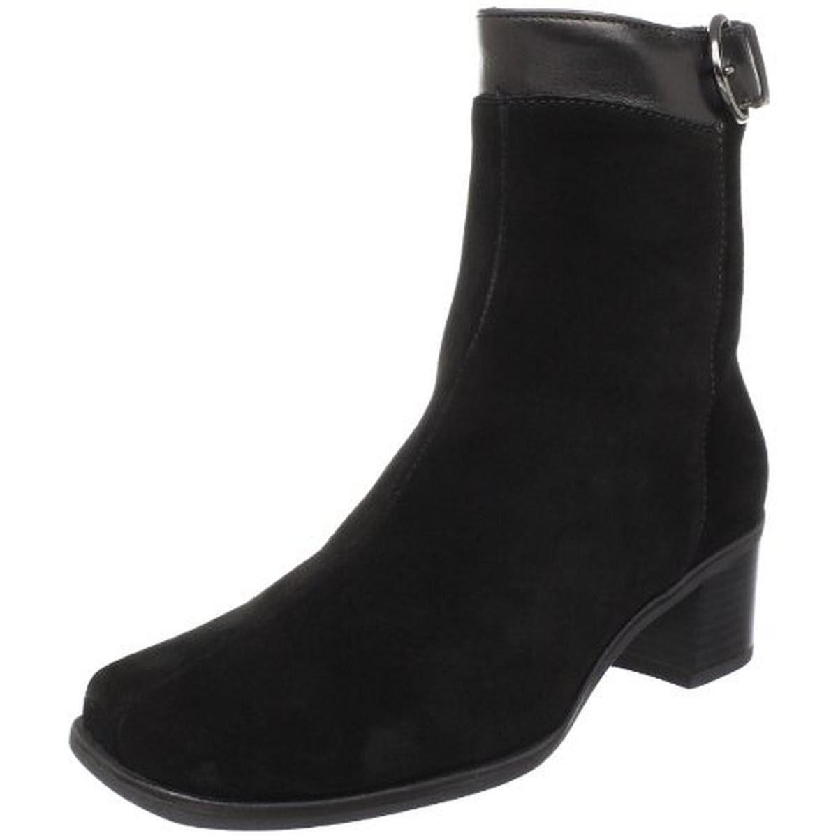 La Canadienne Womens Jaden Suede Waterproof Ankle Boots