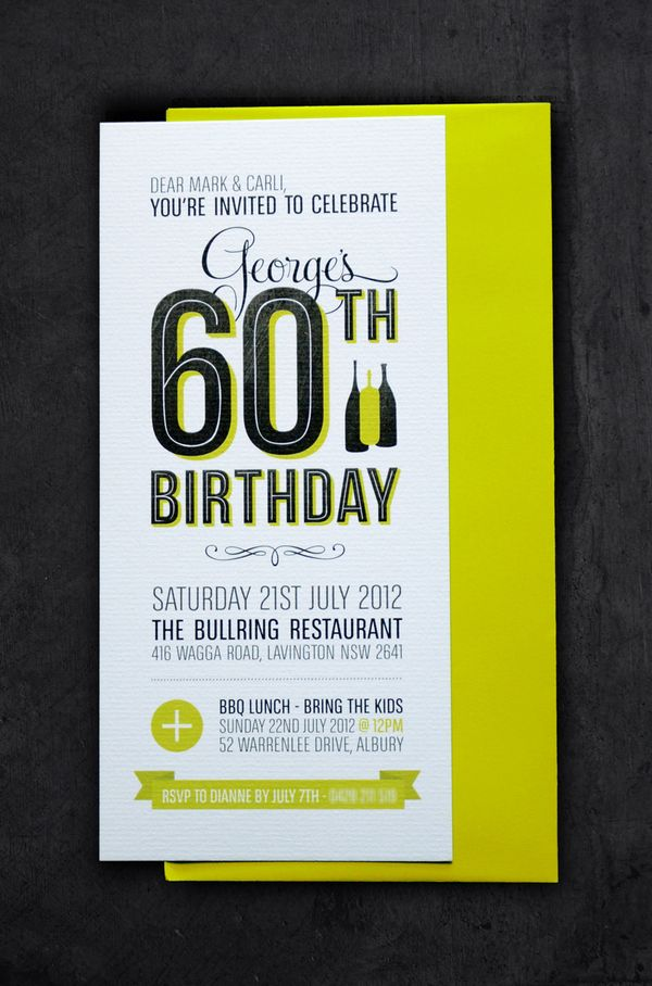 60th birthday invitations | - - > invites & stationery ...