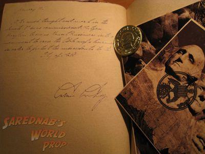 Book of Secrets - Replica - $ - Sarednab's World Prop, Indiana Jones prop replicas and more!