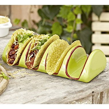 Ceramic Taco Holder in outdoor serving dishes at Lakeland & Ceramic Taco Holder in outdoor serving dishes at Lakeland | Diy and ...