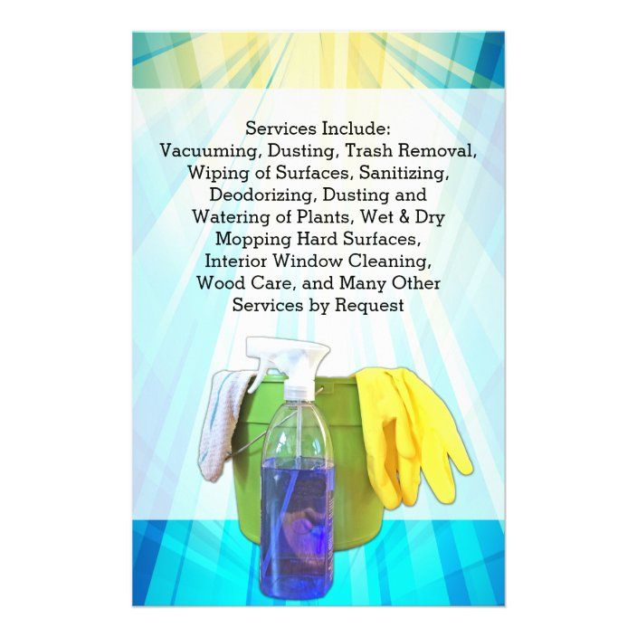 Vibrant Blue Cleaning Maid Service Business Flyer | Zazzle.com