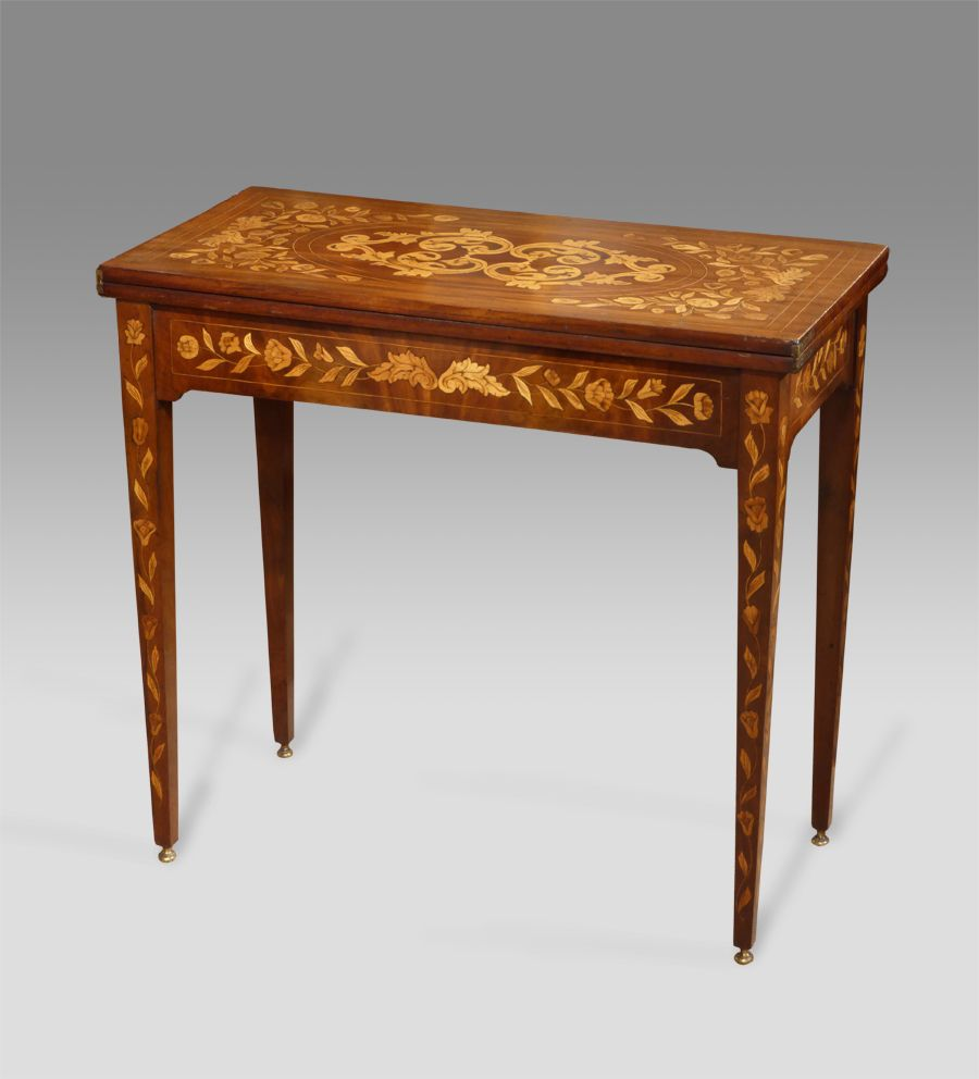 Antique Marquetry Card Table Marquetry Tea Table Dutch Tea Table Antiques Uk Georgian Furniture Regency Furniture Victorian Furniture Antique Furniture Living Room Victorian Furniture Marquetry