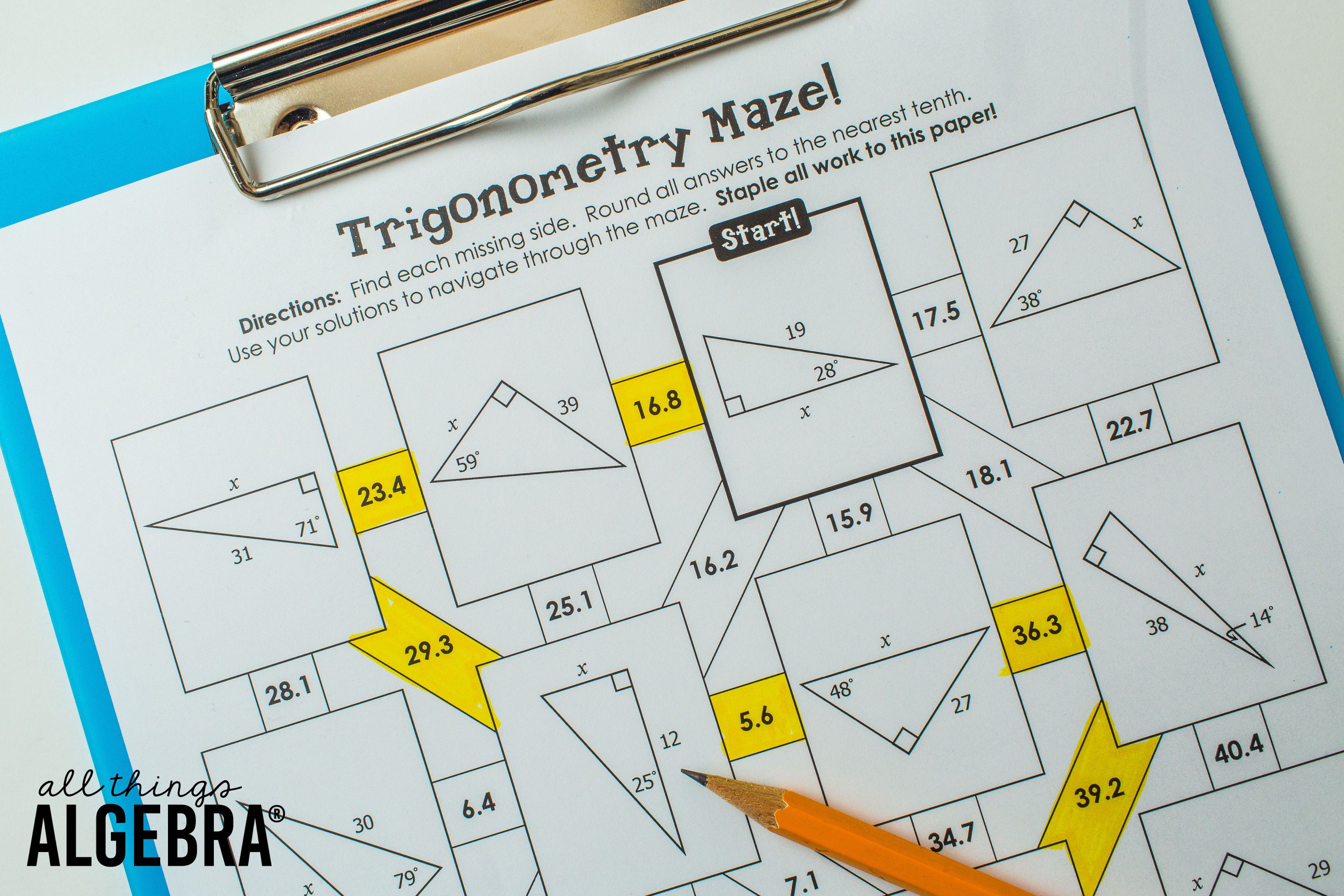 5 Resources For Right Triangles And Trigonometry