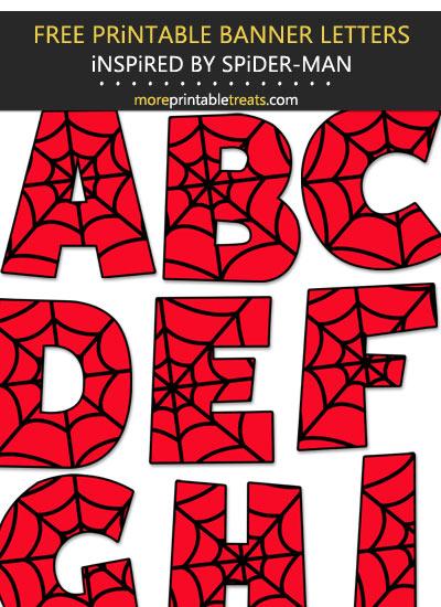 Spider Man Inspired Letters Spiderman Birthday Party Decorations Spiderman Birthday Party Spiderman Theme