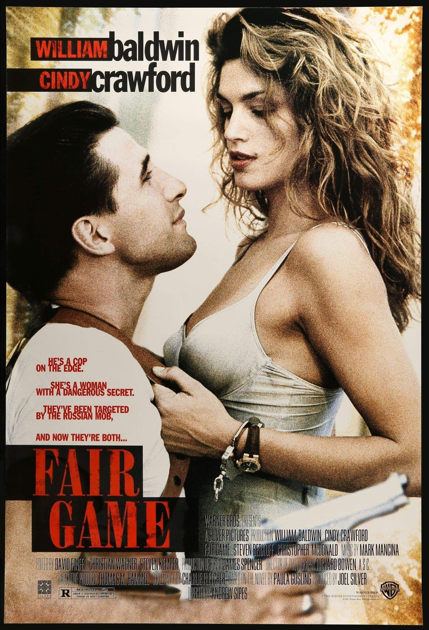 Fair Game 1995 In 2021 Fair Games Cindy Crawford Movie Posters