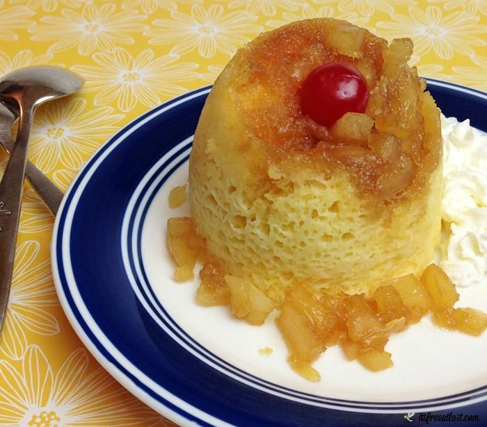 With just two of us in the house, it is hard to eat a whole cake. However, I have discovered this delicious Pineapple Upside Down Mug Cakes for two recipe!