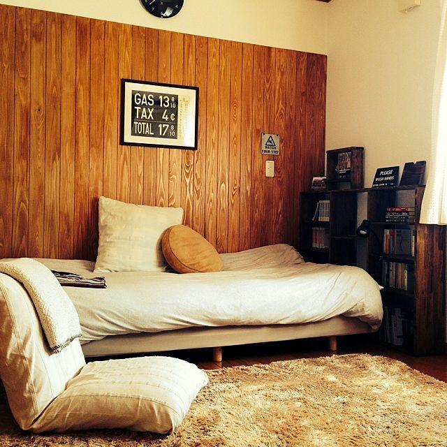 寝室をdiy 和室賃貸でもできる原状回復実例30選 Roomclip Mag 暮らしとインテリアのwebマガジン 小さな部屋 インテリア インテリアアイデア