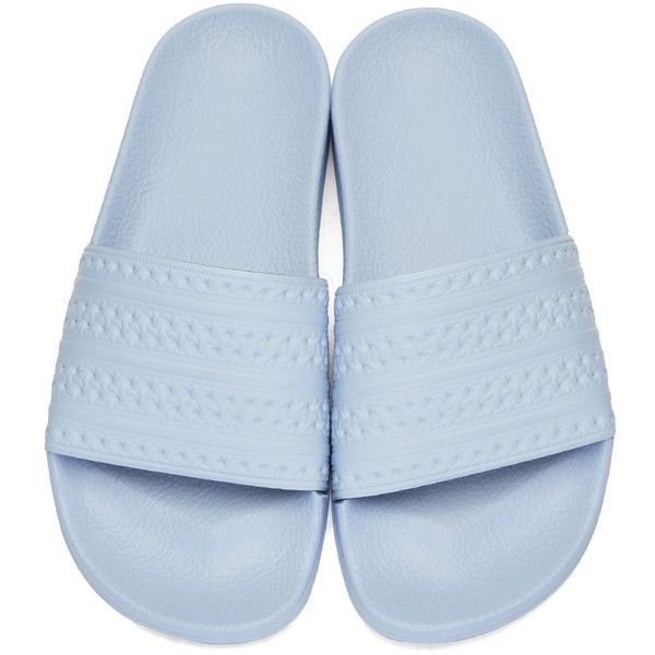 fea988351 adidas Originals Blue Adilette Slide Sandals (235 SEK) ❤ liked on Polyvore  featuring shoes