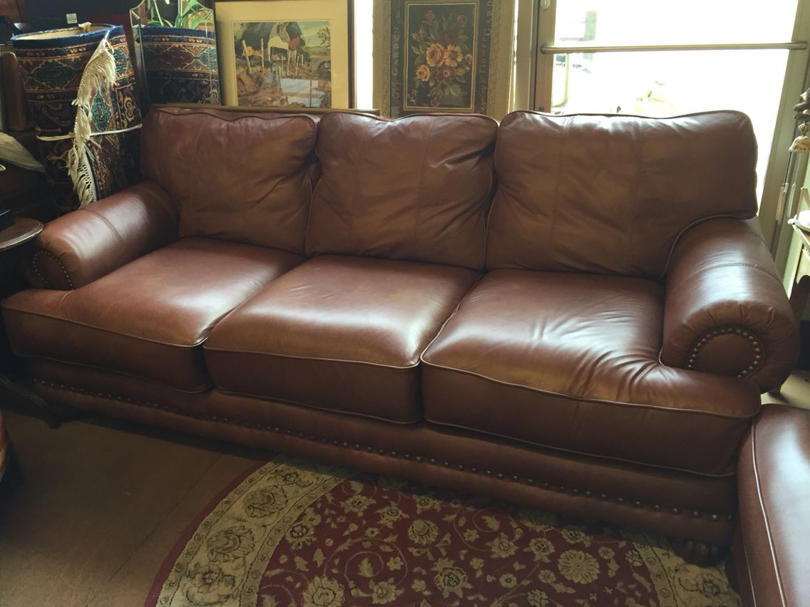 Terrific Comfortable And Stunning Eddie Bauer Leather Sofa With Creativecarmelina Interior Chair Design Creativecarmelinacom