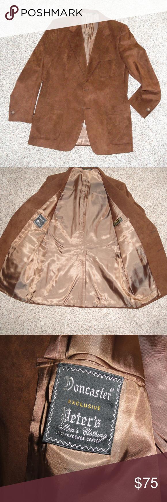 Mens Suede Fabric Blazer Sport Coat Excellent! Beautiful