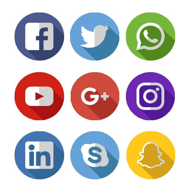 Social Media Icons Png And Vector Gambar Proporsi Tubuh Seniman Jalanan Desain Grafis