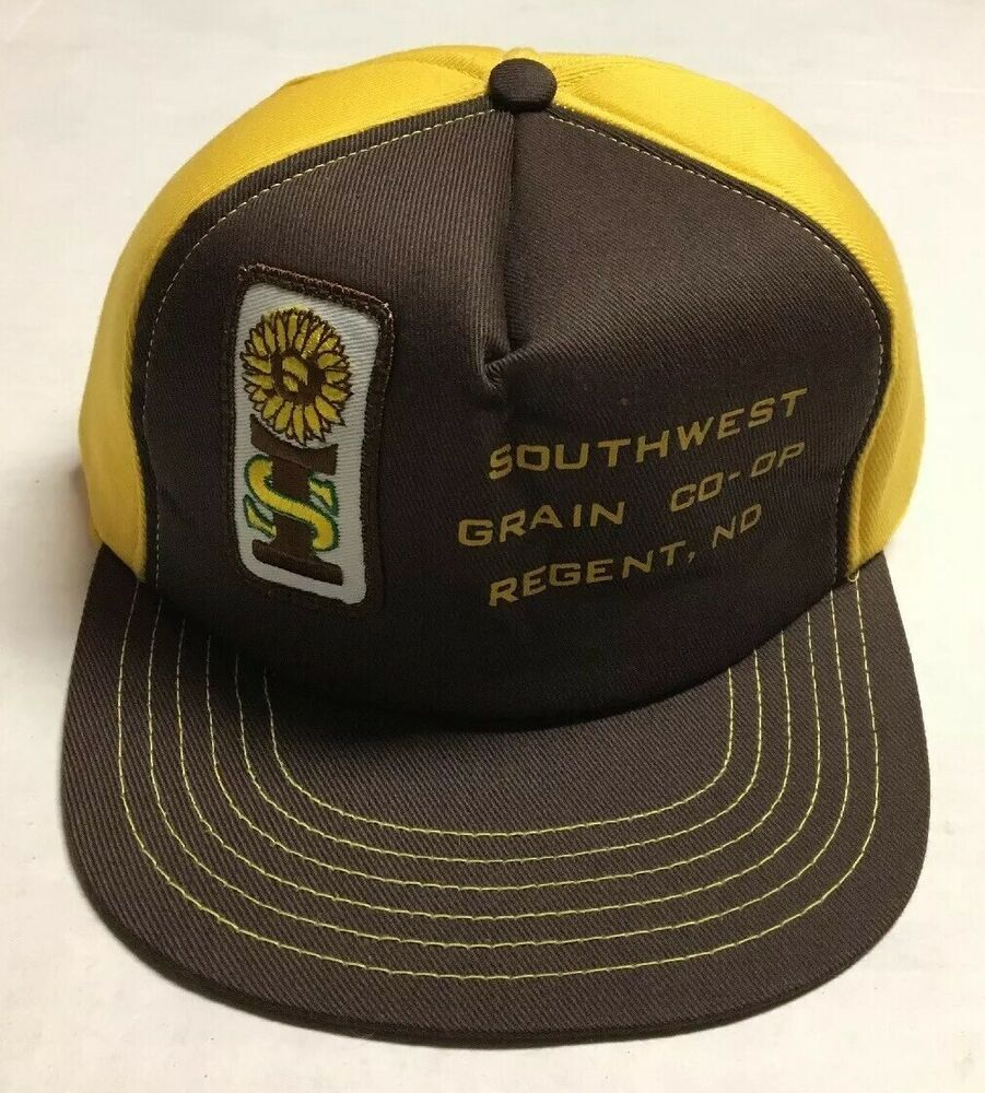 Vtg Southwest Grain Trucker Hat Made In The USA Patch Cap