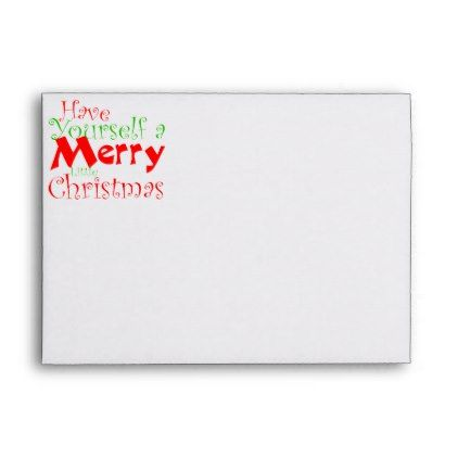 Have A Merry Christmas Holiday Envelope  Holiday Card Diy