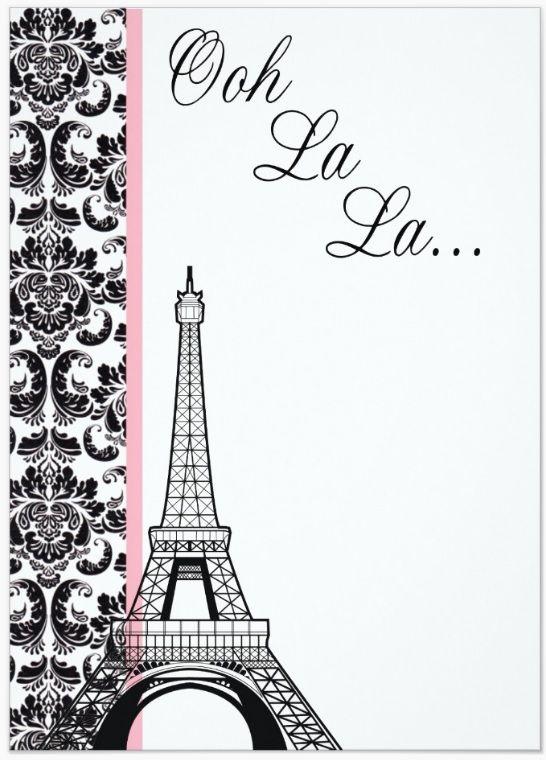 Invite Cumpleaños De París París Vintage Y Fiesta Parisina
