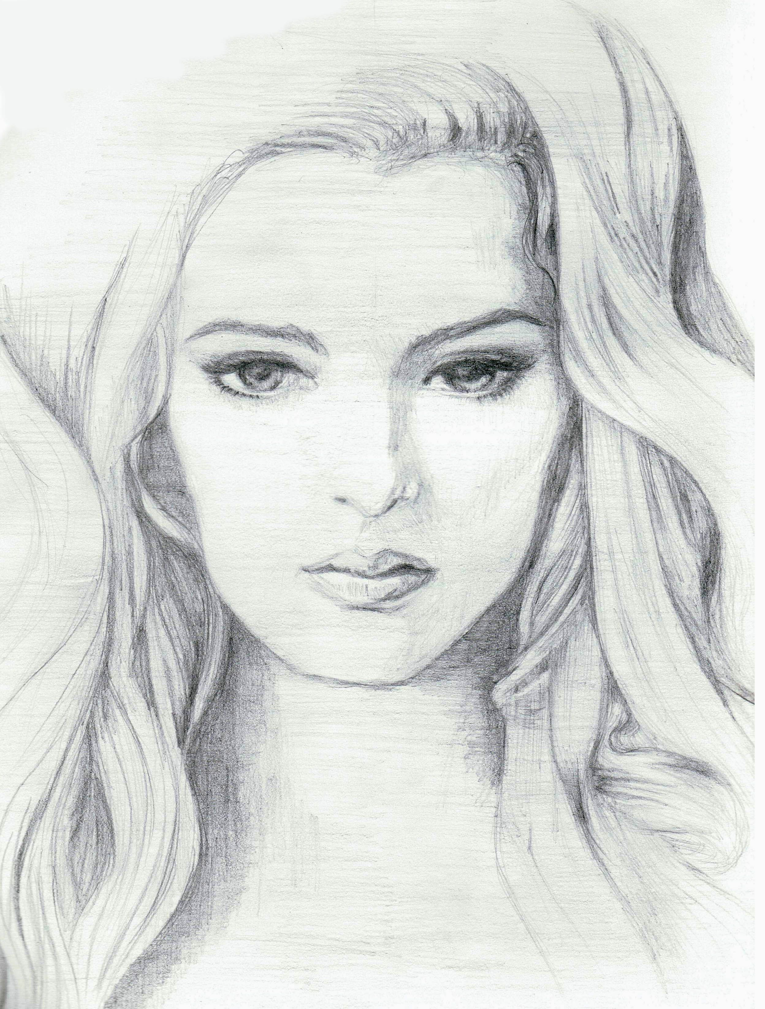 Pencil Sketch For Girl