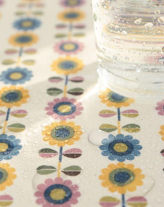Scandinavian Nordic Swedish Vintage Fabric Laminated Cotton -Angel Flower on Etsy, $18.70