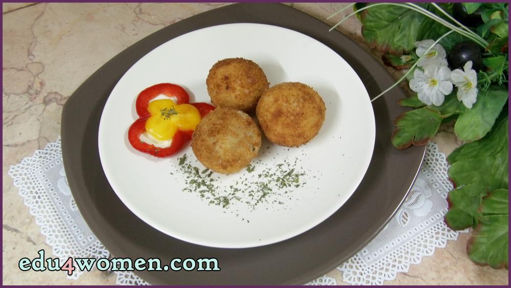 كرات البطاطس البورية المقلية Stuffed Potato Balls Food Breakfast