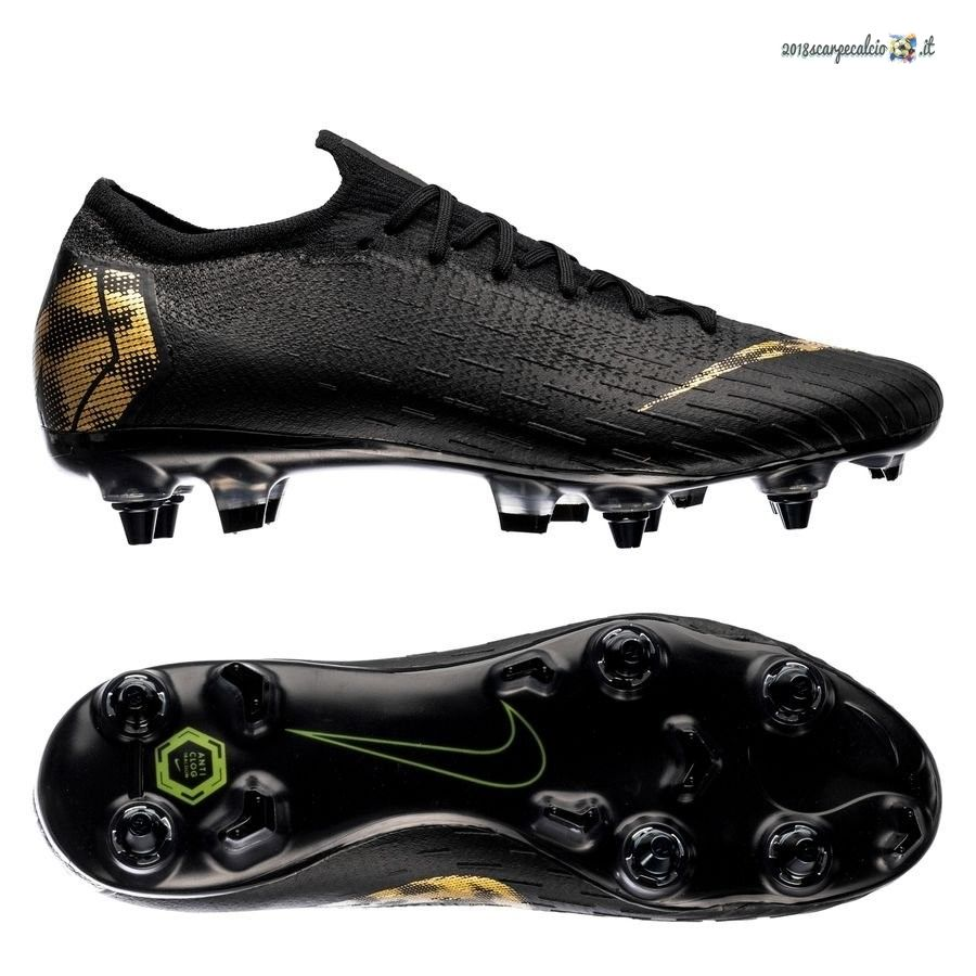 watch bca4a 7055d Acquisto Nike Mercurial Vapor 12 Elite SG PRO Anti Clog Black Lux Nero Oro  In Linea