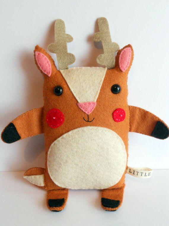 """Litter Deer Handmade Softie: George"" by littlethee $21.16"