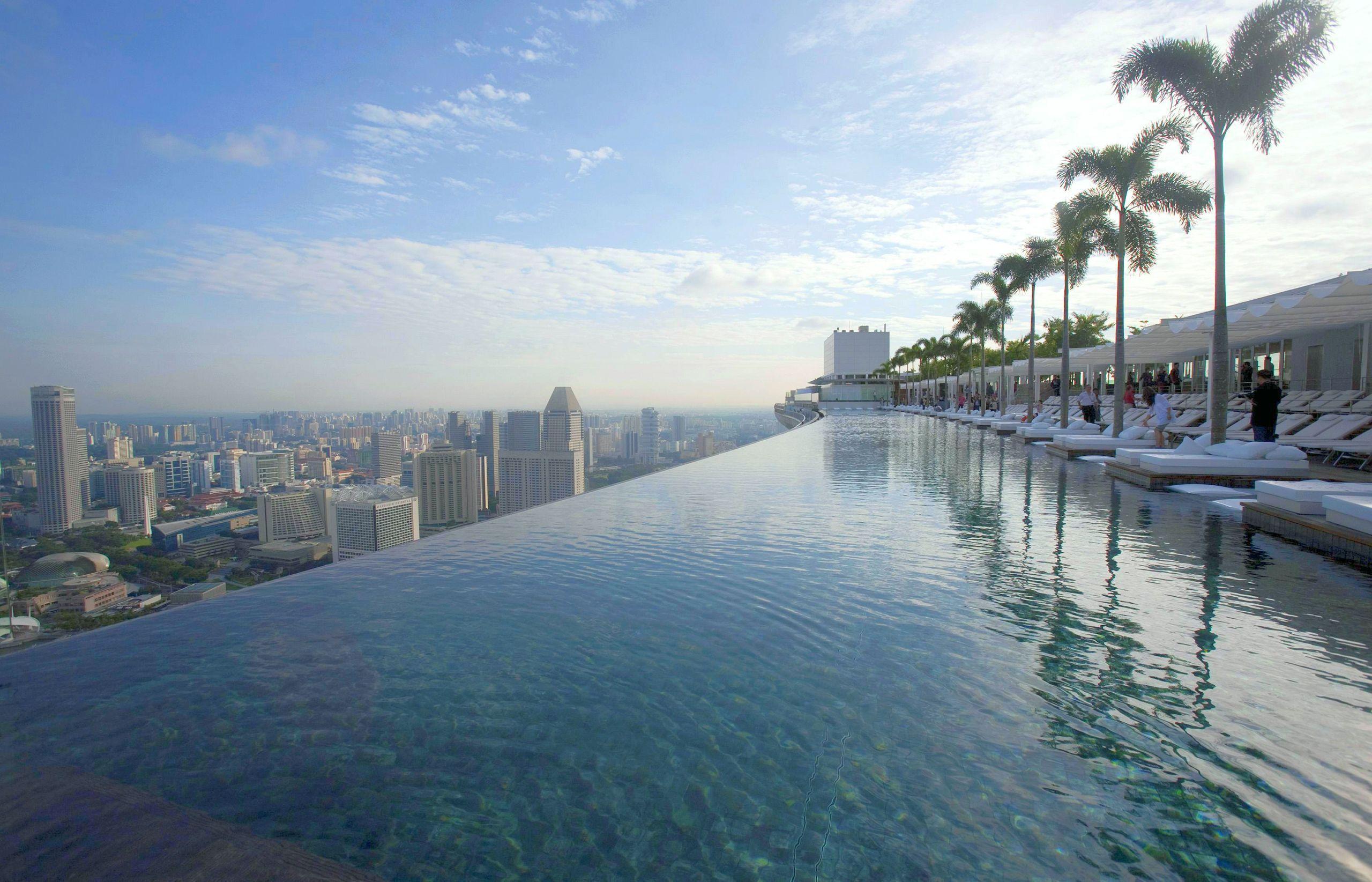 Marina Bay Sands Swimming Pool Singapore Amazing Swimming Pools