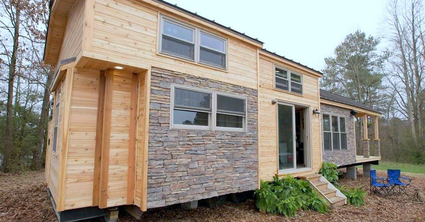 This Tiny 400 Square Ft Home Is Stunningly Spacious And Charming Inside The Tiny House Movement Has Become Small Tiny House Tiny House Inspiration Tiny House