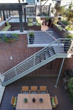 Urban Residence Modern Exterior Chicago Nicholas Design Collaborative Exterior Stairs Outdoor Stairs Rooftop Terrace Design