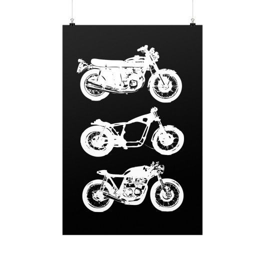 Cafe Racer Evolution - Vertical Fine Art Prints