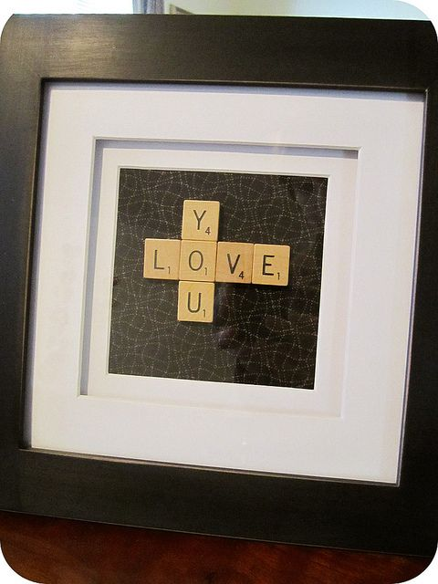 Scrabble Art..clever