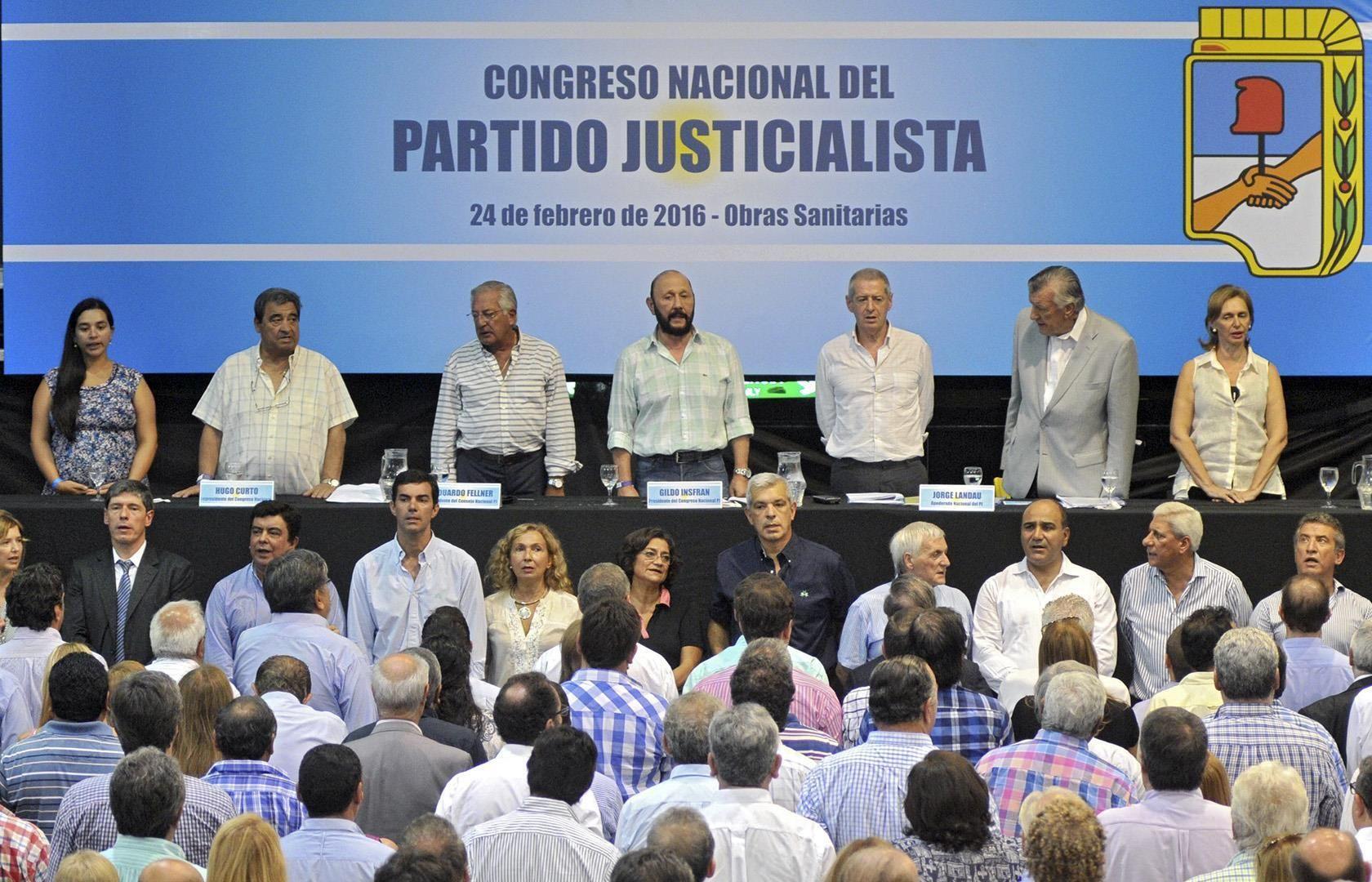 Juan Manuel Urtubey participó del Congreso Nacional del Partido Justicialista que confirmó las elecciones internas partidarias para el próximo 8 de mayo.