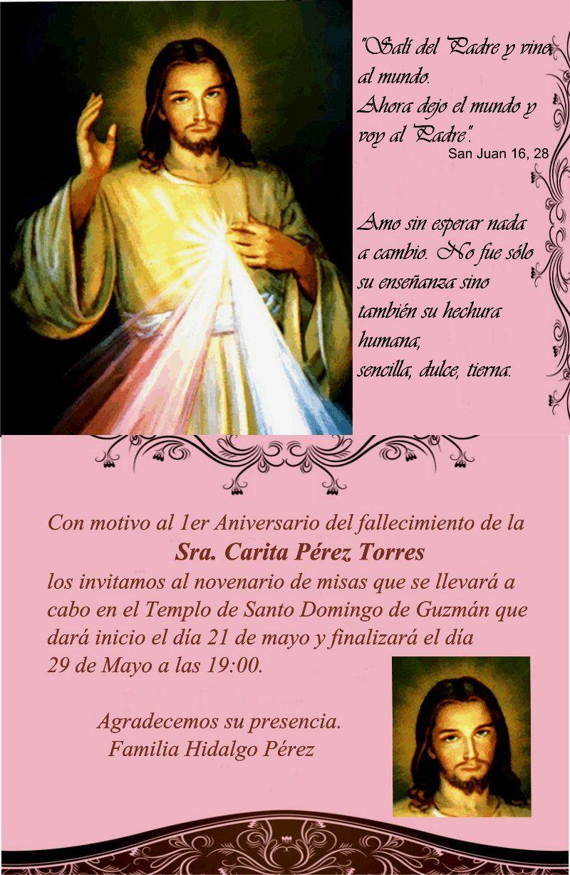 Invitaciones Para Aniversario Luctuoso Gratis Imagui