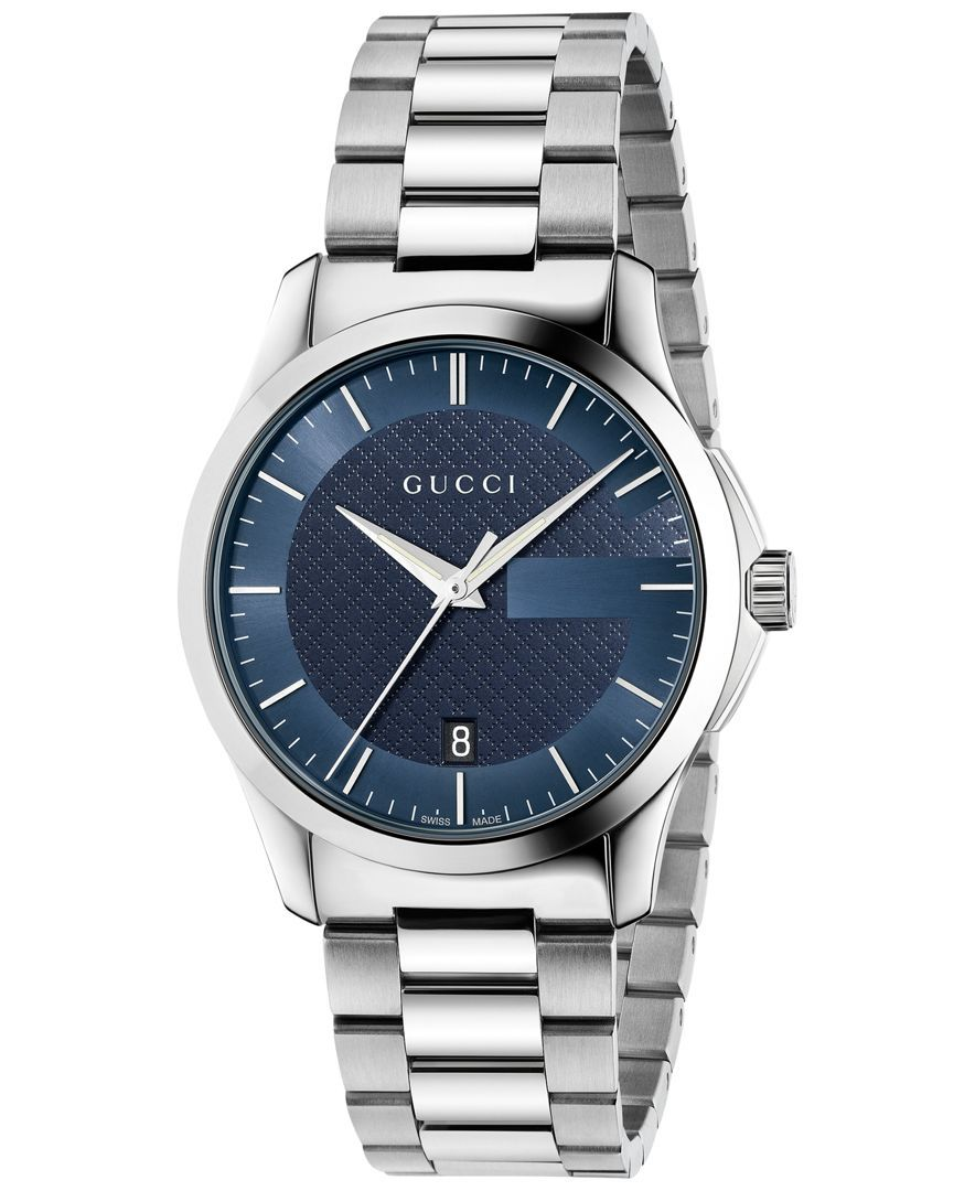 c5f29cb337e Gucci Unisex Swiss G-Timeless Stainless Steel Bracelet Watch 38mm YA126440