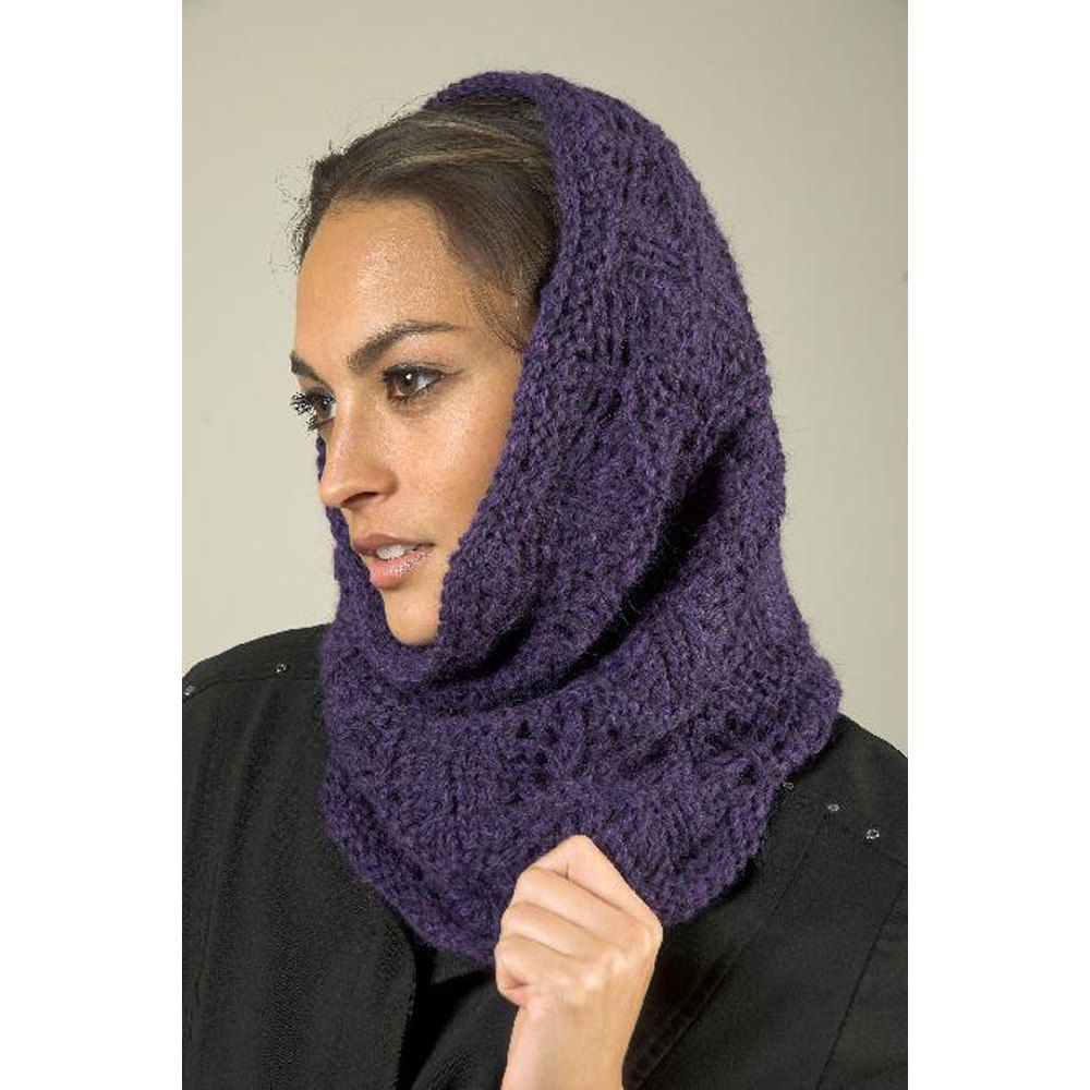 Wave Lace Snood-Cowl in Plymouth Baby Alpaca Aire - F528 | Knitting ...