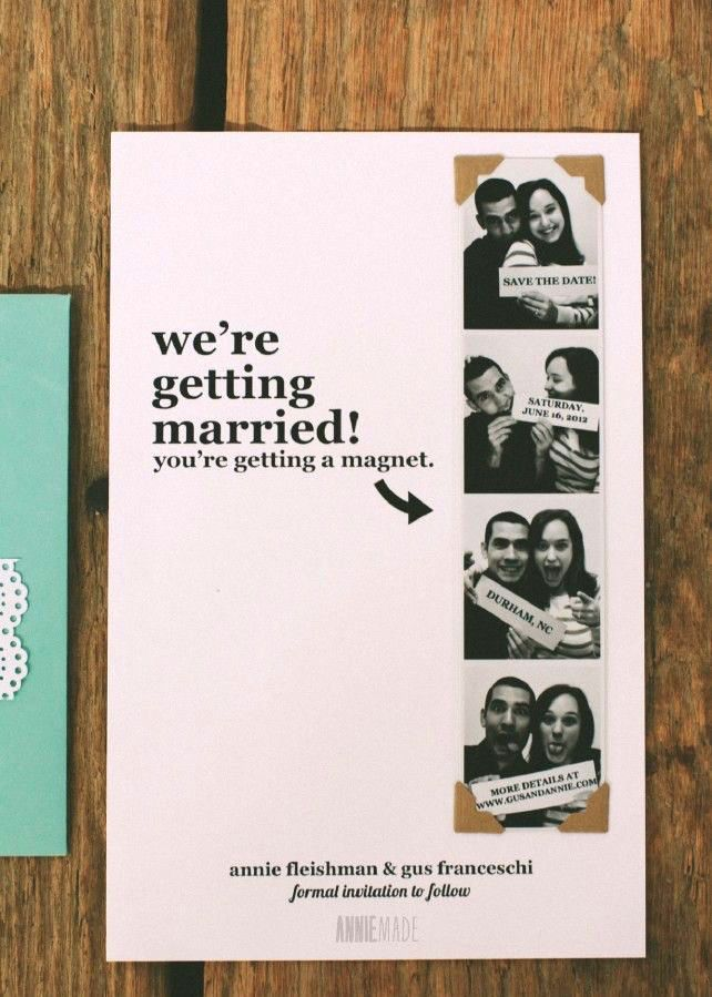 24 Creative Diy Save The Dates Your Guests Will Love Magnets