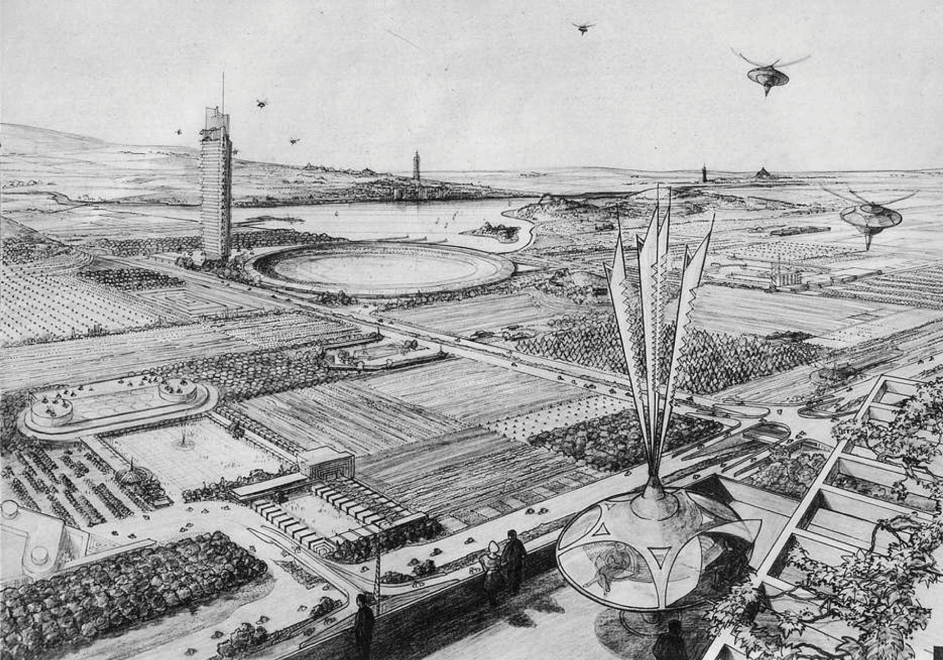 Broadacre City Concept_Frank Lloyd Wright