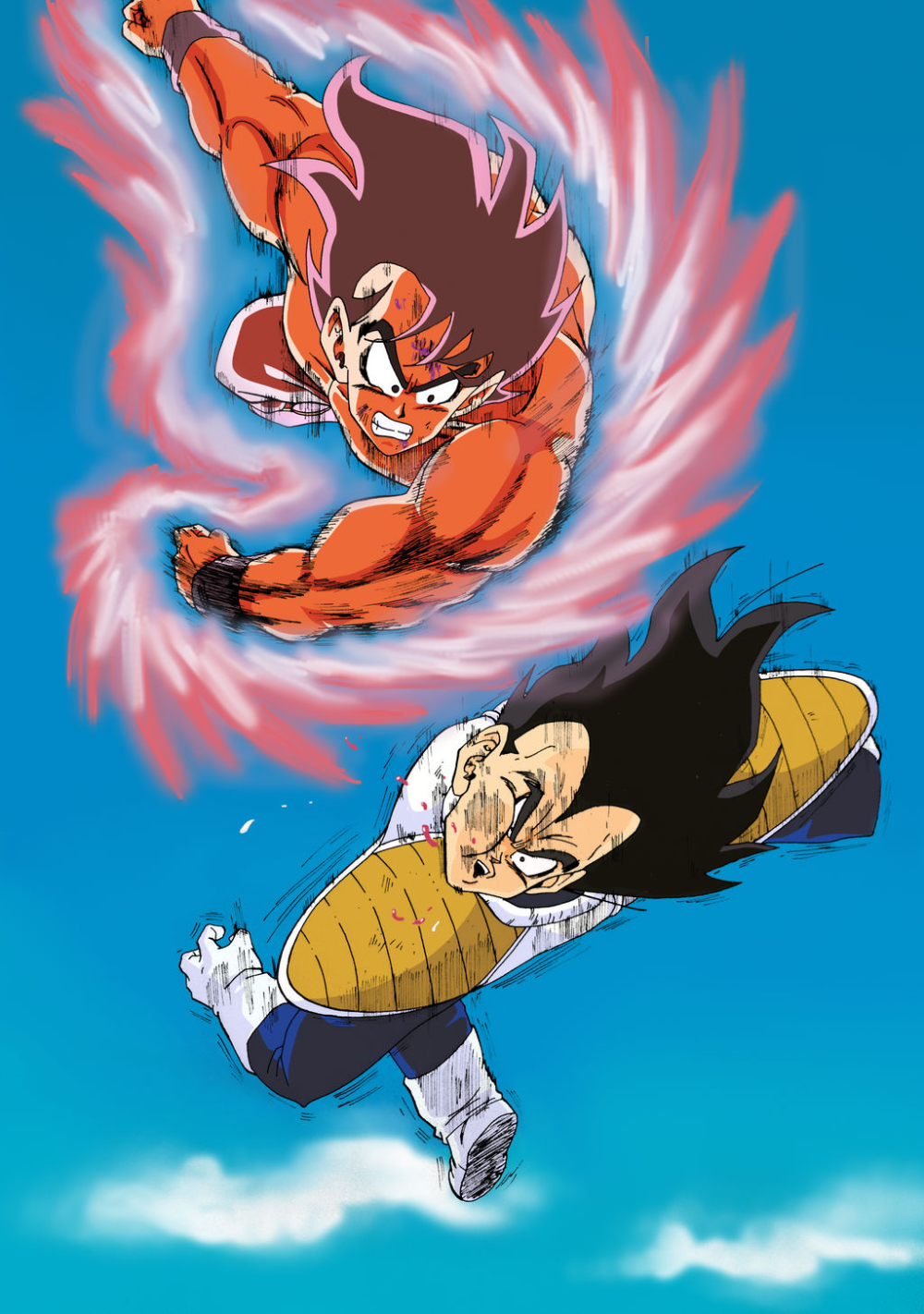 Goku Kaioken X3 Vs Vegeta Goku Lleno De Rabia Le Pega Un Punetazo En La Cara A Vegeta Anime Dragon Ball Super Anime Dragon Ball Dc Comics Wallpaper Iphone