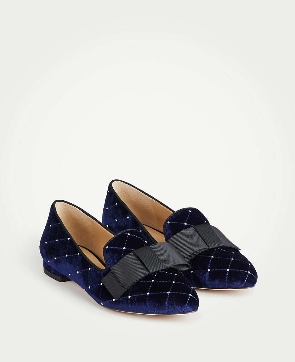 2ed4c67d30db Dominique Velvet Bow Loafers