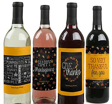Thanksgiving wine labels #happythanksgiving #birthdaypartykid