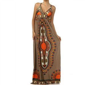 Dashiki Print Maxi Dress The Fula Dress